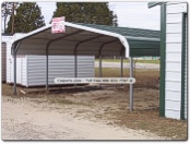 regular style metal carport